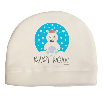 Matching Polar Bear Family - Baby Bear Adult Fleece Beanie Cap Hat by TooLoud