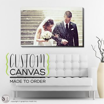 Custom Print Single Picture Canvas Framed or Unframed Multiple Size Options