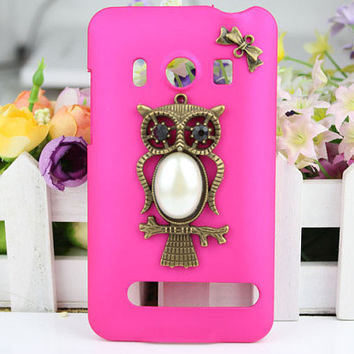 HTC EVO 4G A9292  Hard Case With Antique Bronze Owl for Samsung Galaxy S II S 2
