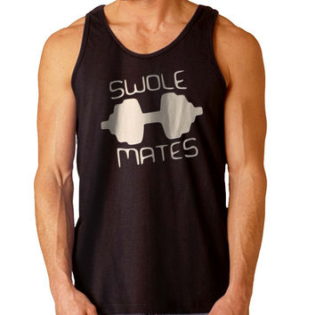 Swole Mate Couples men women For Mens Tank Top Fast Shipping For USA special christmas ***