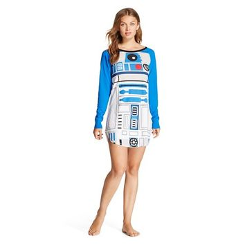 Women's Star Wars R2D2 Sleepshirt Blue