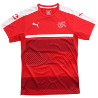 Suisse Training Soccer Jersey Red