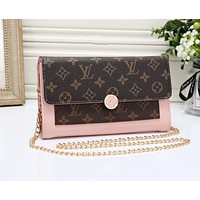 LV Louis Vuitton Fashion Women Shopping Leather Shoulder Bag Crossbody Satchel Pink