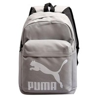 PUMA New fashion white print couple canvas backpack bag Gray