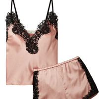 Fleur Du Mal - + Kilian lace-trimmed stretch silk-satin pajama set