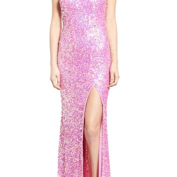 Mac Duggal Sequin Cutout One-Shoulder Gown | Nordstrom