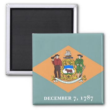 Magnet with Flag of Delaware State - USA