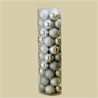 "200 Christmas Ball Ornaments - 2.25 ""  - Silver"