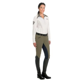 Romfh Ladies Sarafina Mid-Rise Full Seat Breeches  - Deep Sage