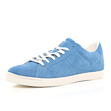River Island MensBlue suede sneakers