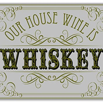 House Wine Wooden Novelty Sign