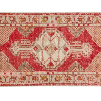 2.5x5 Vintage Distressed Oushak Rug Runner
