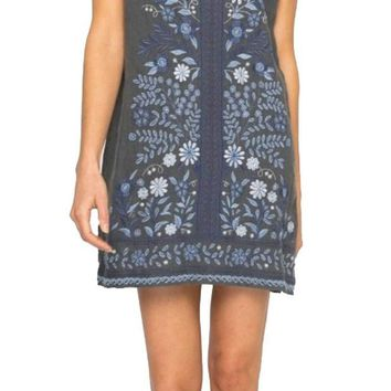 DCCKAB3 Johnny Was Women's Lei Lei Peasant Tunic Dress Voltage