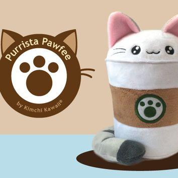 Purrista Pawfee: Cute Coffee Cat Plush
