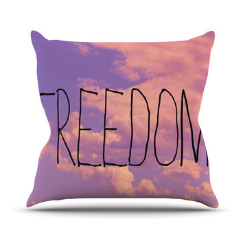 "Rachel Burbee ""Freedom"" Pink Purple Throw Pillow"