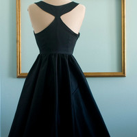Audrey hepburn breakfast at tiffany's black dress vintage inspired retro dress - TIFFANY style