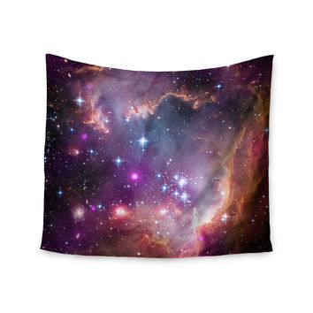 "Suzanne Carter ""Cosmic Cloud"" Celestial Purple Wall Tapestry"