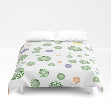 colorful circles Duvet Cover by netzauge