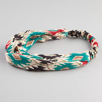 Full Tilt Ethnic Knot Headband Turquoise One Size For Women 23456624101