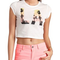 LA SUNSET GRAPHIC CROP TOP