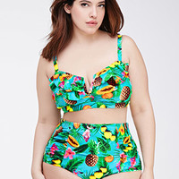 Tropical Print Bikini Bottom
