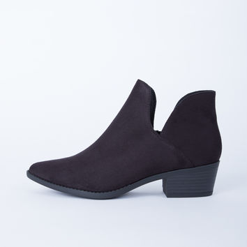 Low Cut Suede Booties