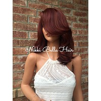 """Taren Tuscany Red Lace Front Wig 10"""""""