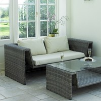 Wicker Lounge Sofa | Garden Furniture | Conservatory Sofa