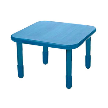 """Baseline Kids Preshool Daycare Classroom Activity Play Square Table 30""""""""X48""""""""x12 Royal Blue"""