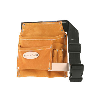 91488 - 5 Pocket Tool Belt in Heavy Duty Suede Leather
