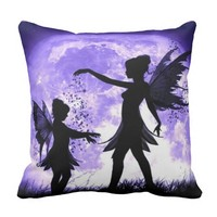 Pixie dust Fairies Throw Pillow