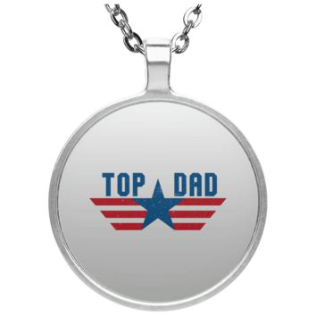 Funny Father's Day Gift For Dad From Wife, Daughter, Son, Stepdaughter, Stepson, Mom, Grandma, Mother In Law (6 od_1495732598337421 UN4686 Circle Necklace)
