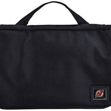 DCCKU3N NHL New Jersey Devils Travel Toiletries Organizer, 21 x 8 x 1.5', Black