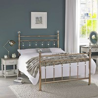 Carrington Rose Gold Bedstead | Dunelm