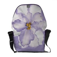 Beautiful Lavender Orchid Messenger Bag