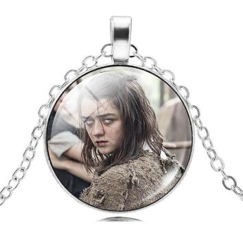 9 Kinds Of Game of Thrones Necklace Women Glass Cabochon Necklace & Pendant Vintage Silver Color Chain Jewelry Statement Choker