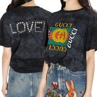 VONE05 GUCCI Retro Logo Back Loved T-shirt