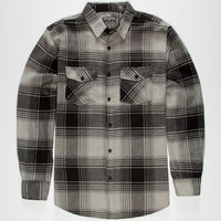 Straight Faded Tom Mens Flannel Shirt Grey  In Sizes