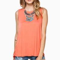 ShopSosie Style : Sneak Peak Tank Top in Coral