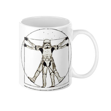 Storm Trooper Coffee Mug Storm trooper as Da Vinci's Vitruvian man