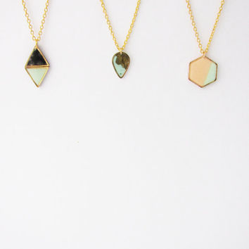 Geometric minimalist necklace. Choose Your Geo Necklace layered necklaces Hexagon necklace.  Drop necklace . Double Triangle necklace