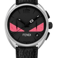 Fendi Bug Chronograph Leather Strap Watch, 40mm | Nordstrom