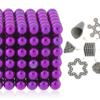 5mm Buckyballs Neocube Magnet Toy 216pcs Set (Purple)