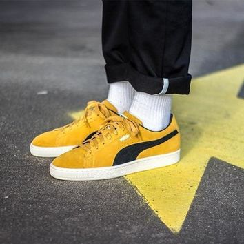 spbest Puma Suede Classic Archive Yellow / Black-1