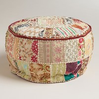Small-Ivory Pouf - World Market