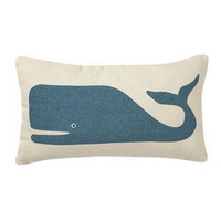 Blue Whale Pillow â?? French Seaside Cottage Decor ~ Boutique de la Mer
