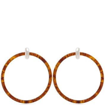 Tortoiseshell-effect large hoop earrings | Balenciaga | MATCHESFASHION.COM UK