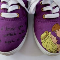 Sleeping Beauty Inspired Shoes by HandPainted29 on Etsy