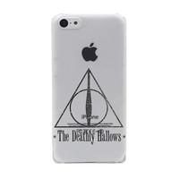Harry Potter The Deathly Hallows Hard Transparent Case Cover for iPhone 7 5 5S SE 5C 4 4S  6 6S Plus