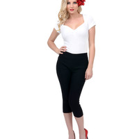 Black Stretch Sugar Pie Capris